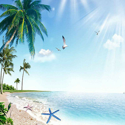 Tropical Beach 10'x10' CP Backdrop Computer printed Scenic Background XLX-464