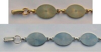 6 BRACELET Blanks/Forms ~ 6 OVAL PADS 20mm ~ 4 SILVER + 2 GOLD ~ You glue Cabs