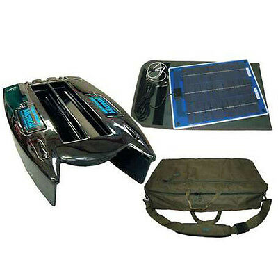 Angling Technics Microcat Baitboat, Bag & Solar Panel