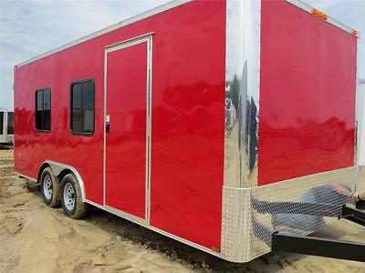 NEW 8.5x20 3500# ROAD DOG PRO-TOW ENCLOSED CARGO TRAILER WITH REAR DOORS WINDOWS