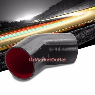 "Red 3Ply Silicone 2.50/""-3.00/"" 90 Degree Reducer Hose for Intake//Intercooler"