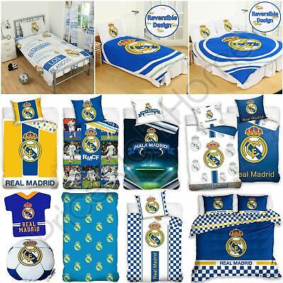 Official Real Madrid Single & Double Duvet Covers Football Bedding, Cushions