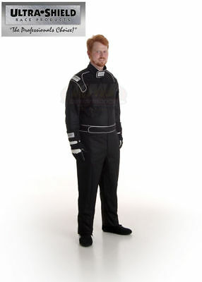 ULT 30041 Black XL Single Layer 1pc Racing Driver Fire Suit SFI 3.2A/1 Rated