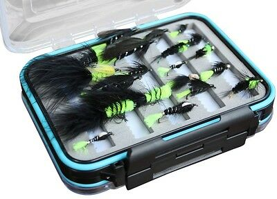 Flextec Assorted Fly Fishing Viva Flies in box Fly Selection x 20