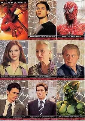 Spider-Man The First Movie 2002 Topps Master Set 100 Base + 4 Insert Card Sets