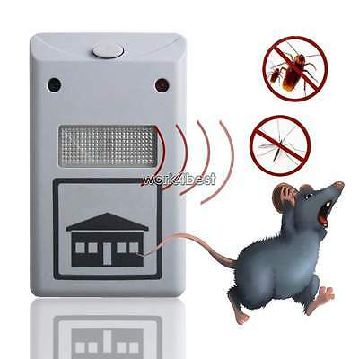 Pest Repeller Ultrasonic Electronic Mouse Rat Mosquito Insect Rodent Control 1 X