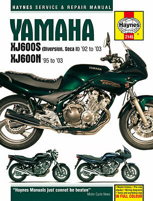 Haynes 2145 Motorcycle Bike Repair Manual Yamaha Xj600S Diversion Seca Ii 92-03