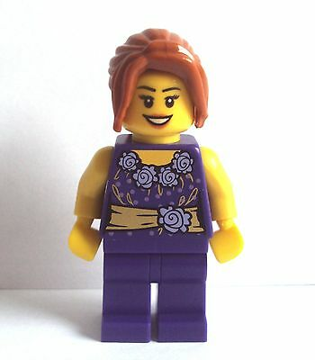 Lego 3 Lilac Purple Outfit Costume Crayon Girl  Minifigure Not Included