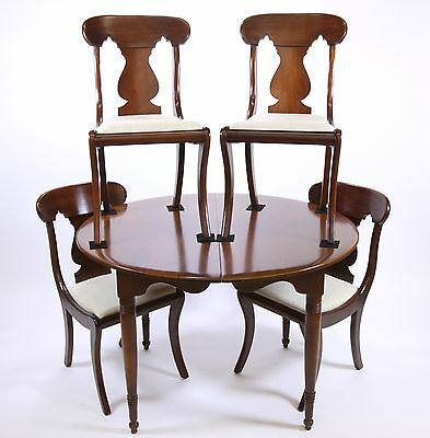 Antique Solid Mahogany Dining Room Set Table & 4 Chairs Unique Furniture Maker