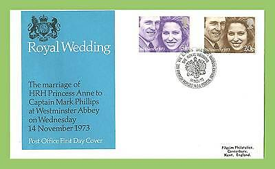G.B. 1973 Royal Wedding set on Post Office First Day Cover, BFPS 1434