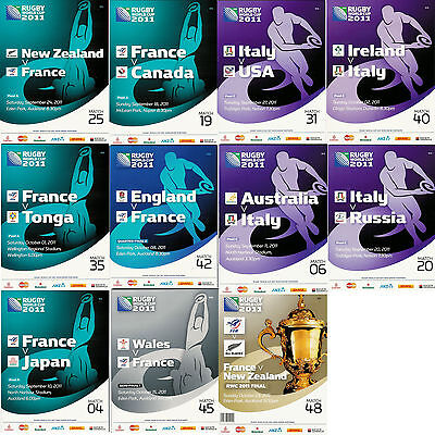 France & Italy 2011 Rugby World Cup Programmes Free Uk Postage - Rwc