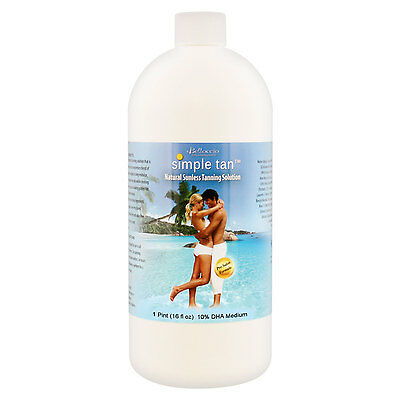 Quart Belloccio Simple Tan 10% DHA Med. Sunless Airbrush Spray Tanning Solution