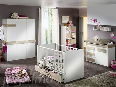 6tlg babyzimmer komplettset bett schrank wickelkommode wildeiche balu 09219 eur 797 00. Black Bedroom Furniture Sets. Home Design Ideas