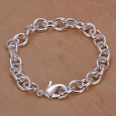 hot Silver Fashion Elegant solid women Charm chain Bracelet JEWELRY