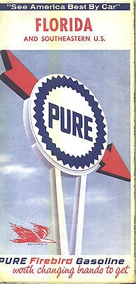 1965 Pure Florida Vintage Road Map