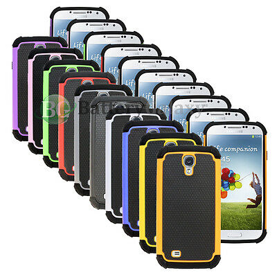 Lot of 10 Hybrid Rugged Rubber Hard Case Cover for Samsung Galaxy S 4 S4 IV GS4