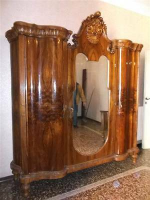 Beautiful Chippendale Italian Antique Bedroom Set Armoire - 14It018A