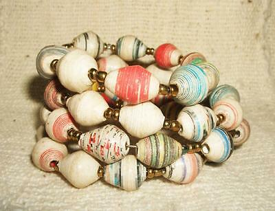 African Recycled Paper bracelet cuff bangle new Africa recycle Africa jbpm72