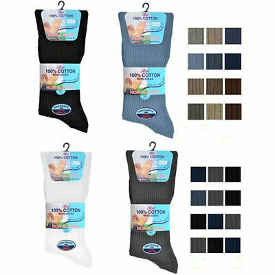 Mens Non Elastic Diabetic Socks Mens Non Elastic Socks 3 Pair Pack 100% Cotton