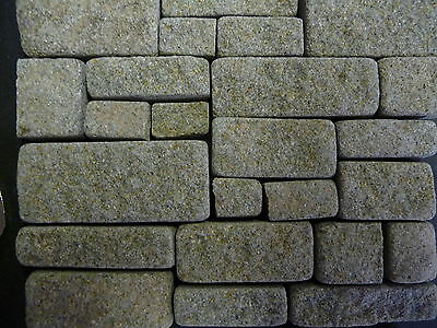 100 sq ins 1:12th Scale REAL GREY STONE Miniature Cottage Stone Building Blocks