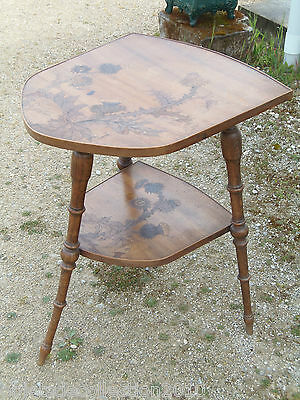 Table Art Nouveau Emile Galle Chardons Asymetrique Deco