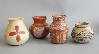 Three (3) Ancient Pre-Columbian Mesoamerican Pottery Vases  1000+ Years Old