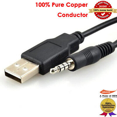 Premium USB 2.0 Type A to 3.5mm Male Audio Headphone Jack Cable