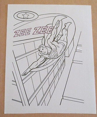 Superman Activity Book Original Art #39 Superman FRANK McLAUGHLIN