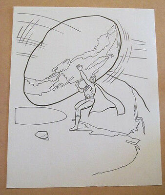 Superman Activity Book Original Art #30 Superman FRANK McLAUGHLIN