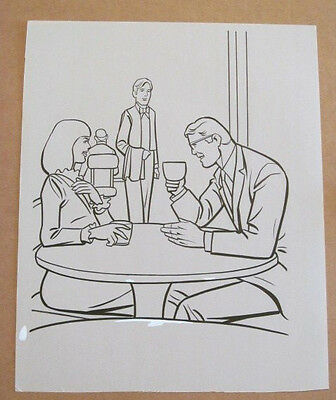 Superman Activity Book Original Art #45 Clark Kent & Lois Lane FRANK McLAUGHLIN