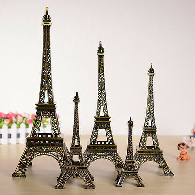 Hot Mixed Charming Paris Eiffel Tower Sculpture Retro Model Home Decor 4Colors