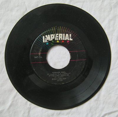 Teenage Doll & If You Can't Rock Me Ricky Nelson 4 Track EP45 Imperial IMP154 G