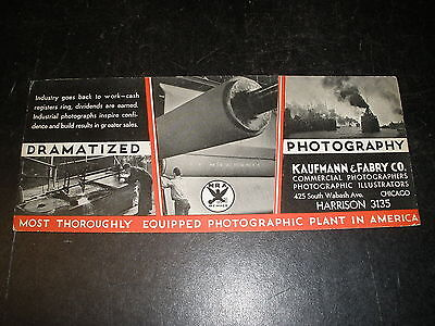vintage photography photo KAUFMANN & FABRY CO., Chicago ink blotter