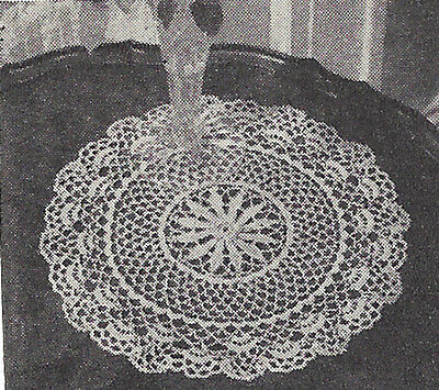 Vintage Crochet Pattern To Make Heirloom Lace Crochet Doily