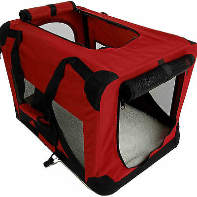 """New 30"""" Portable Maroon Burgundy Pet Dog House Soft Crate Foldable Playpen"""