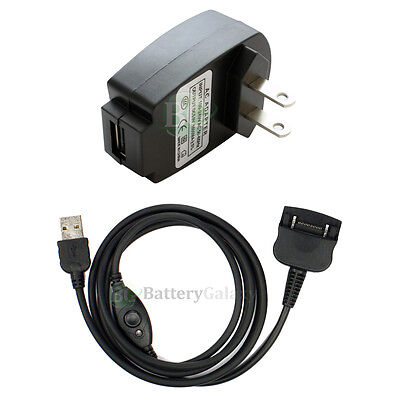 Battery Wall AC Charger+USB Sync Cable for Palm Tungsten T W C T2 T3 Zire 71