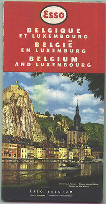 1960 Esso Belgium and Luxembourg Vintage Road Map / Excellent Condition