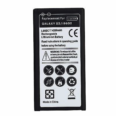 New 4300mah High Capacity Replacement Battery for SamSung Galaxy S5 i9600