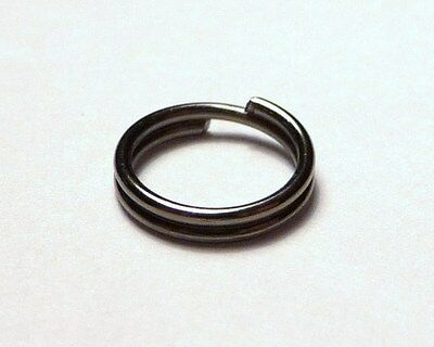100pc Choice Of 5mm 6mm 7mm 8mm Black Split Double Rings Iron Jewellery Findings
