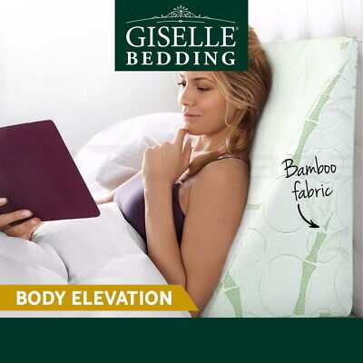 Giselle Bedding Wedge Pillow Memory Foam Cushion Back Support Bamboo Pillows