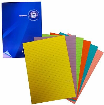 2x Irlen Premier Pads. High Contrast Dyslexia Pads-100 Page-80gsm-Lined-Coloured