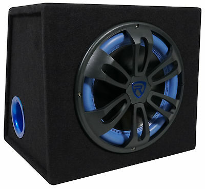 Rockville RVB12.1A 12 Inch 500W Active Powered Car Subwoofer+Sub Enclosure Box