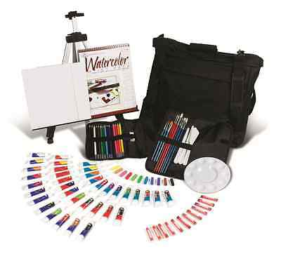 Artist All Media Easel Travel Set Watercolour Oil Acrylic Paints & Pastels Fa202
