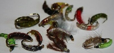 Flextec Assorted Fly Fishing Czech check Nymph Trout Flies Fly Selection x 20
