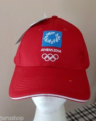 New Olympic Games Athens 2004 Rare Blue Cap Hat Official Licensed Product w/tag