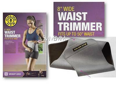 "Gold's Gym Waist Trimmer Belt Adjustable Exercise Belly Fat Unisex 50"" Stretch"