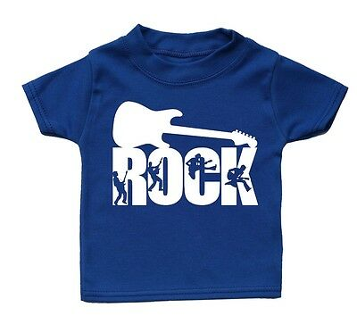 Rock T Shirt Funny Baby Cute Boy Girl Present Kid Funky Gift Babies Music Guitar