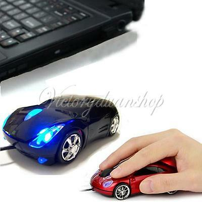 NEW 3D Car Optical USB Wired Mouse Mice for Computer PC Laptop Notebook 1600DPI