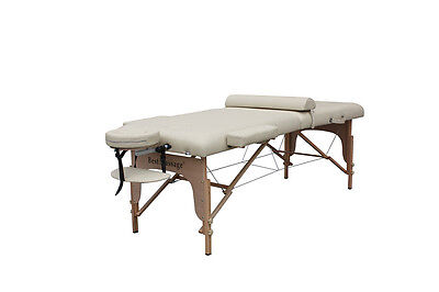 "77"" Long 30"" Wide 3"" Pad Cream Portable Massage Table C"