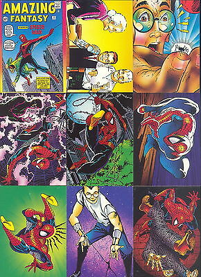 Spider-Man 2 30Th Anniversary 1992 Comic Images Complete Base Card Set 90 Marvel